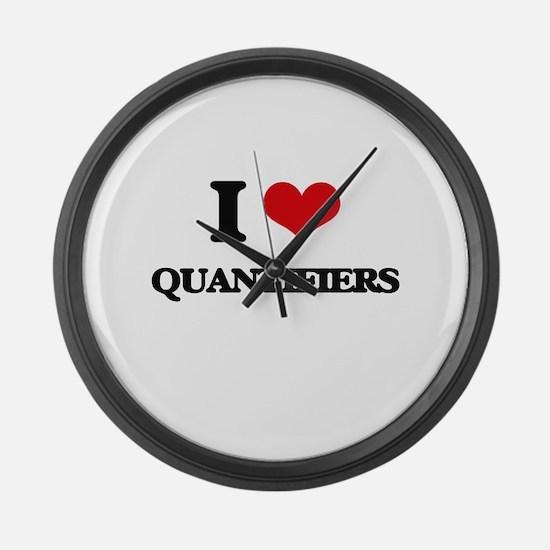 I Love Quantifiers Large Wall Clock