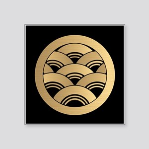 Golden Waves Japanese Kamon Sticker