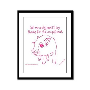 Im A Pig Framed Panel Print