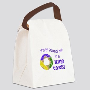 FOUND ME IN A KING CAKE Canvas Lunch Bag
