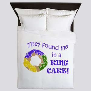 FOUND ME IN A KING CAKE Queen Duvet