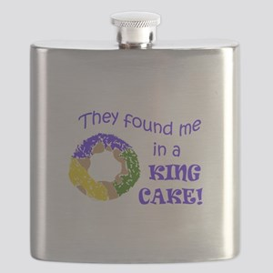 FOUND ME IN A KING CAKE Flask