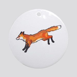 WHITETAIL FOX Ornament (Round)