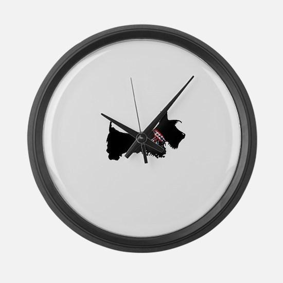 Scottie Dog Large Wall Clock