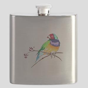GOULDIAN FINCH Flask