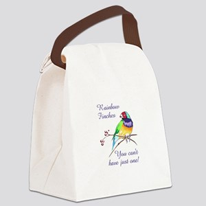 RAINBOW FINCHES Canvas Lunch Bag