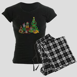 Christmas Cats Women's Dark Pajamas
