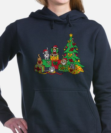 Christmas Cats Women's Hooded Sweatshirt
