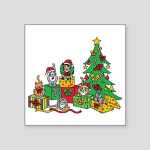 Christmas Cats Sticker