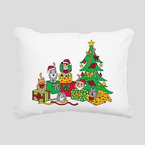 Christmas Cats Rectangular Canvas Pillow
