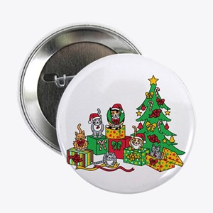 """Christmas Cats 2.25"""" Button"""