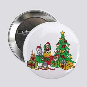 "Christmas Cats 2.25"" Button"