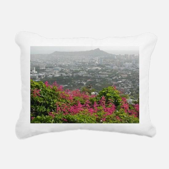 Diamond Head Storm Rectangular Canvas Pillow