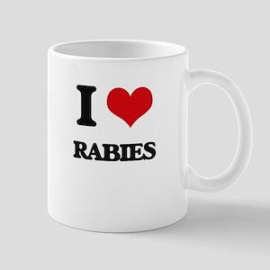 I Love Rabies Mugs