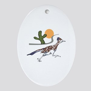 ROADRUNNER SCENE Ornament (Oval)