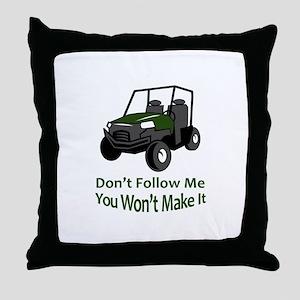 DONT FOLLOW MW Throw Pillow