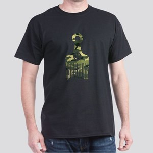 Camo Afro Hair Peace Dark T-Shirt