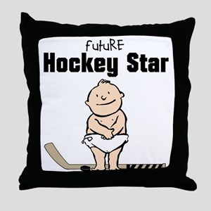 Future Hockey Star Nursery Pillow