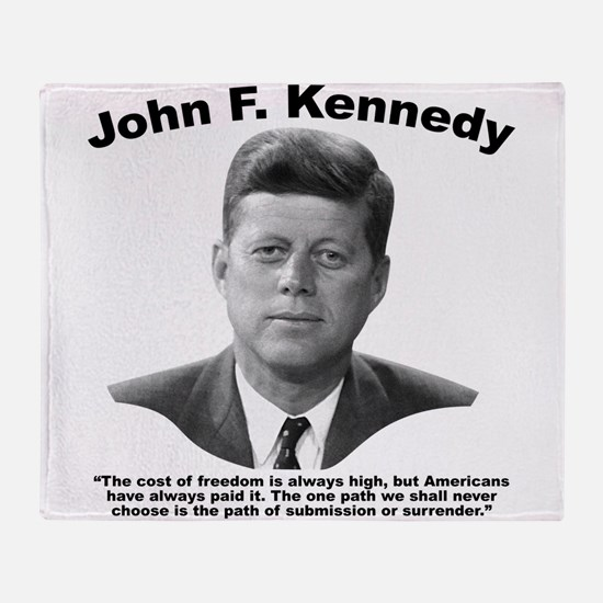 JFK Freedom Throw Blanket