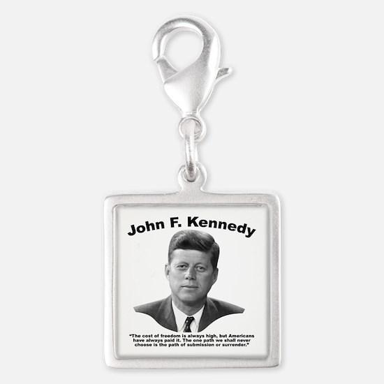 JFK Freedom Silver Square Charm