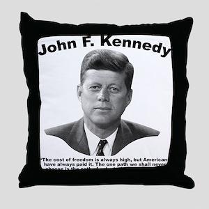 JFK Freedom Throw Pillow