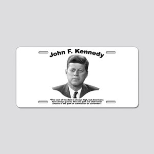 JFK Freedom Aluminum License Plate
