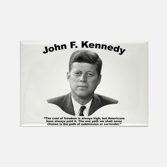 JFK Freedom Rectangle Magnet