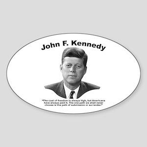 JFK Freedom Sticker (Oval)