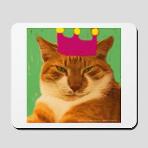 King Creola Orange Cat Mousepad