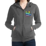 I Love Mom Big Hand Women's Zip Hoodie