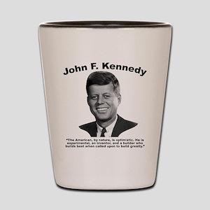 JFK Build Shot Glass