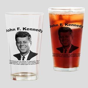 JFK Build Drinking Glass