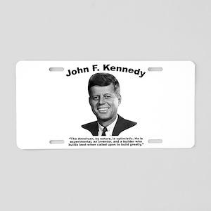 JFK Build Aluminum License Plate