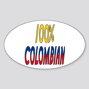 100% Colombian Oval Sticker
