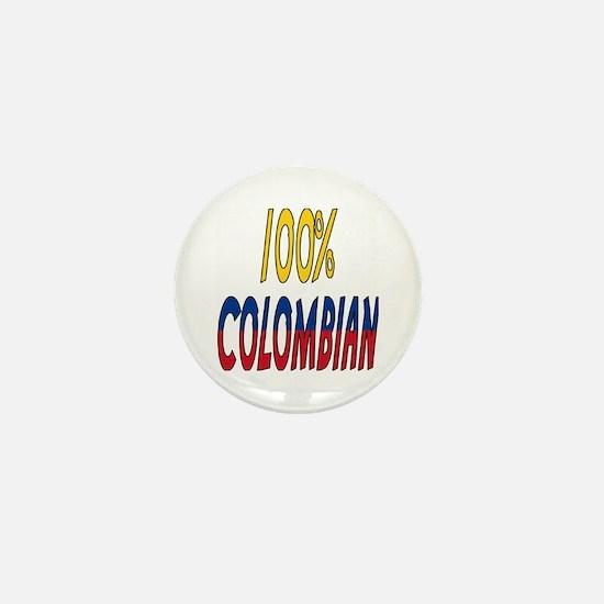 100% Colombian Mini Button