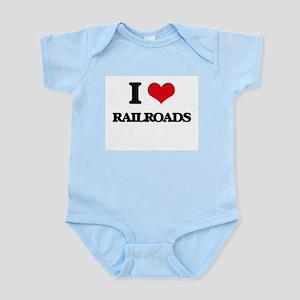 I Love Railroads Body Suit