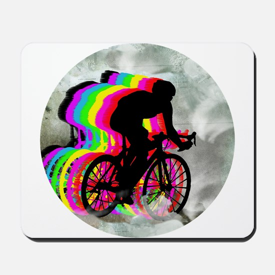 Cycling in the Clouds Mousepad