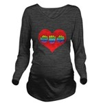 Mom Inside Big Heart Long Sleeve Maternity T-Shirt