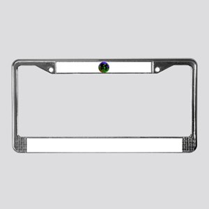 Cycling Trio on Ribbon Road License Plate Frame