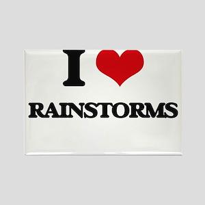 I Love Rainstorms Magnets