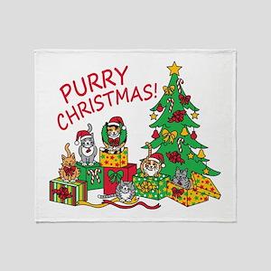 Purry Christmas! Throw Blanket
