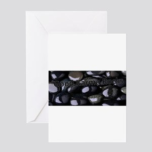 Rock Karma Greeting Cards