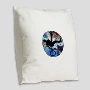 BMX in Grunge Tunnel Burlap Throw Pillow