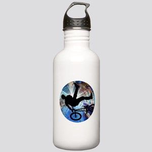 BMX in Grunge Tunnel Stainless Water Bottle 1.0L