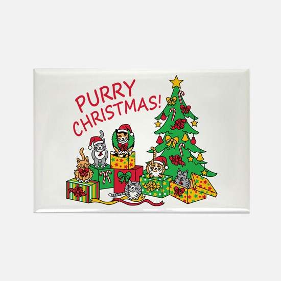 Purry Christmas! Magnets