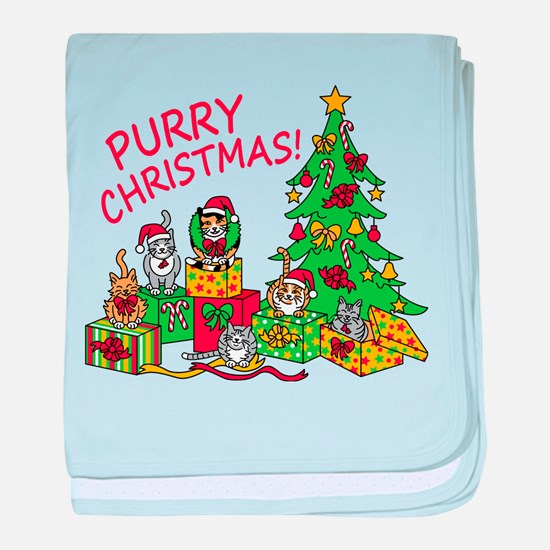 Purry Christmas! baby blanket