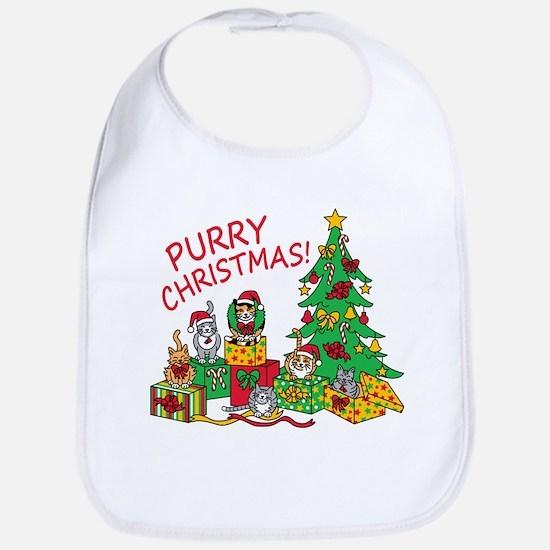Purry Christmas! Bib