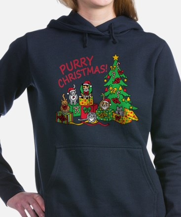 Purry Christmas! Women's Hooded Sweatshirt