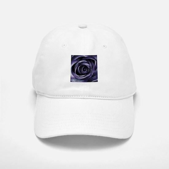 Blue Purple Rose Flower Baseball Baseball Cap