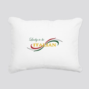 LUCKY TO BE ITALIAN Rectangular Canvas Pillow